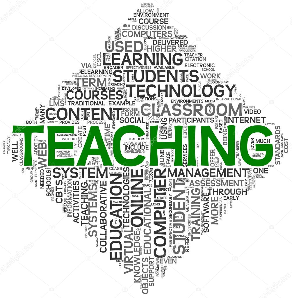 Teaching concept in tag cloud