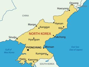 North Korea - vector map