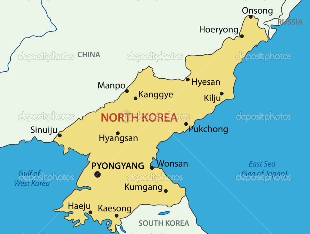 North Korea vector map Stock Vector pavalena 10913217