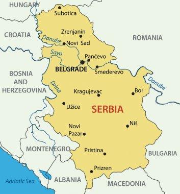 Republic of Serbia - vector map