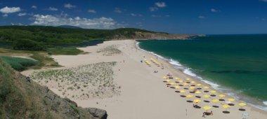Beautiful beach- Silistar, Bulgaria stock vector