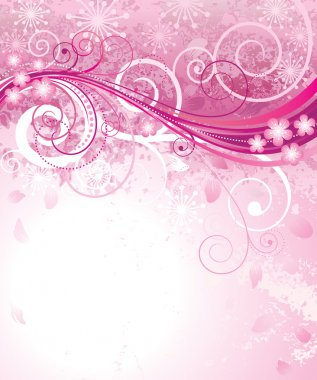 Abstract pink floral background in pink. clip art vector