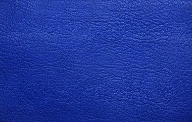 Blue leather