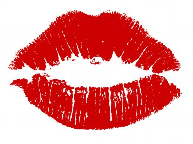 Red kiss lips Vector stock vector