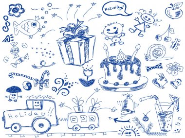 Holiday doodles vector