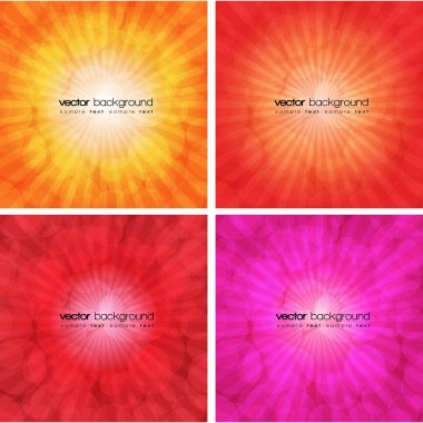 Set of colorful abstract backgrounds - vector illustration