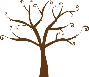 Beautiful vector floral tree