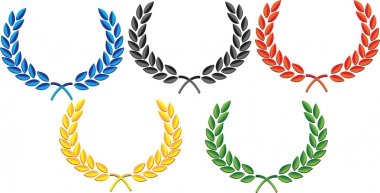 The laurel wreath vector
