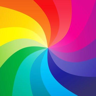 Rainbow swirly background - vector