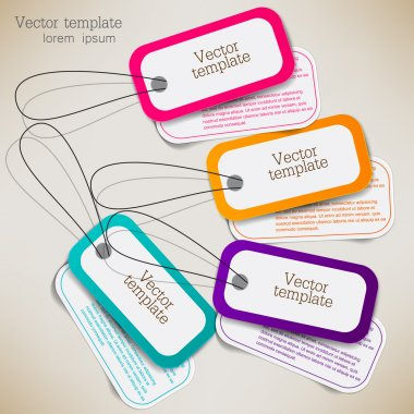 Set of bubbles, stickers, labels, tags. Vector template