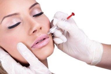 Botox injection treatment.