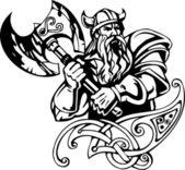 Fotografie Severské viking - vektorové ilustrace. Vinyl připraven