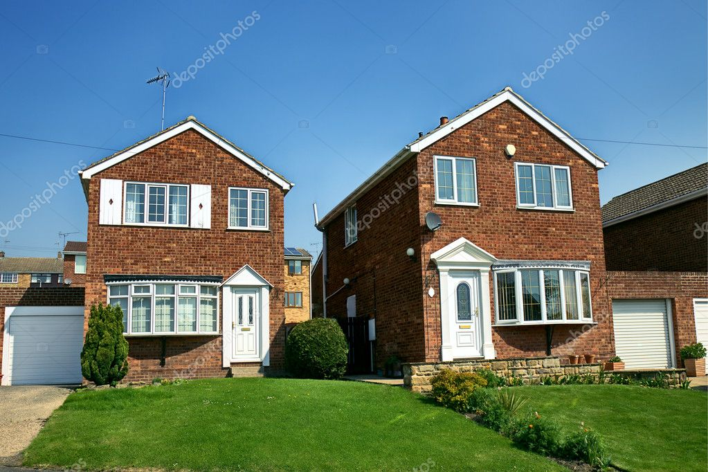Modern English Brick House Stock Photo 10788524