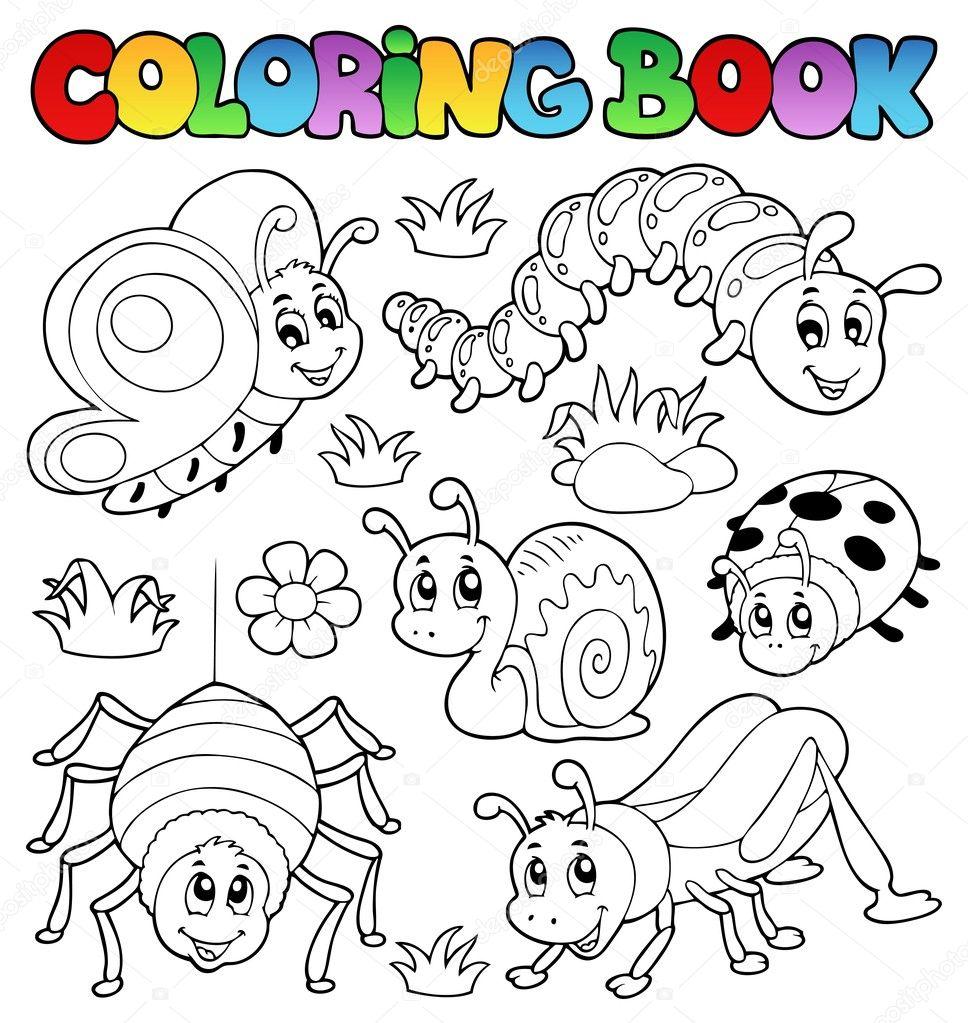 Coloring book cute bugs 1 stock vector clairev 11550456 Coloring book your photos