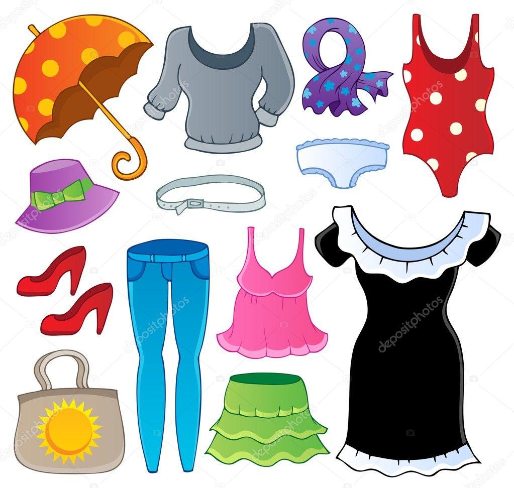 Kleidung Design Collection 2 — Stockvektor #12202497