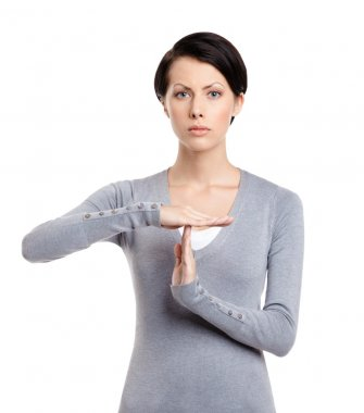 Time out hand gesture