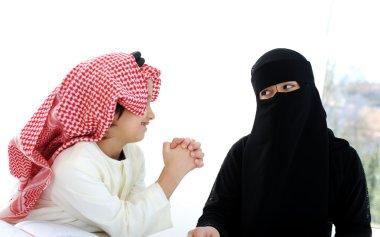Muslim Arabic boy and girl