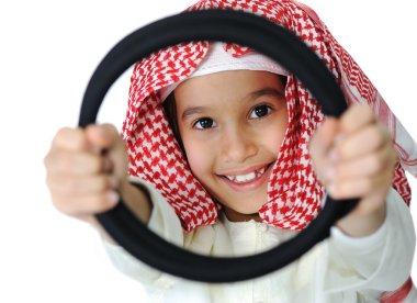 Happy arabic little boy
