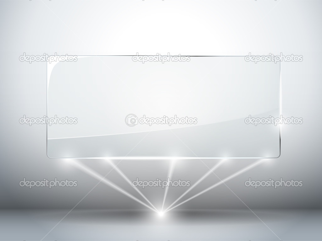 Glass Plate Background with Lasers