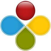 Fotografia diagramma di affari colorato lucido