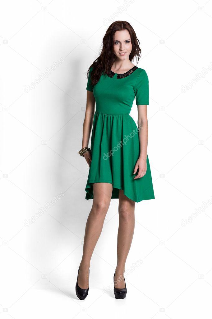 bdacf2130b5 Mannequin habillée d une robe verte avec émotions — Image de ...
