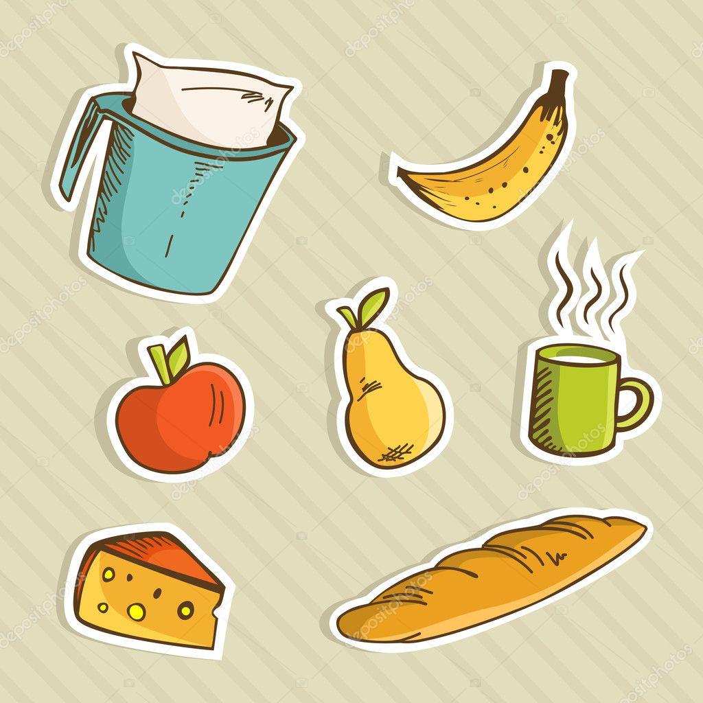 Aliments Sains De Dessin Animé Image Vectorielle Cienpies