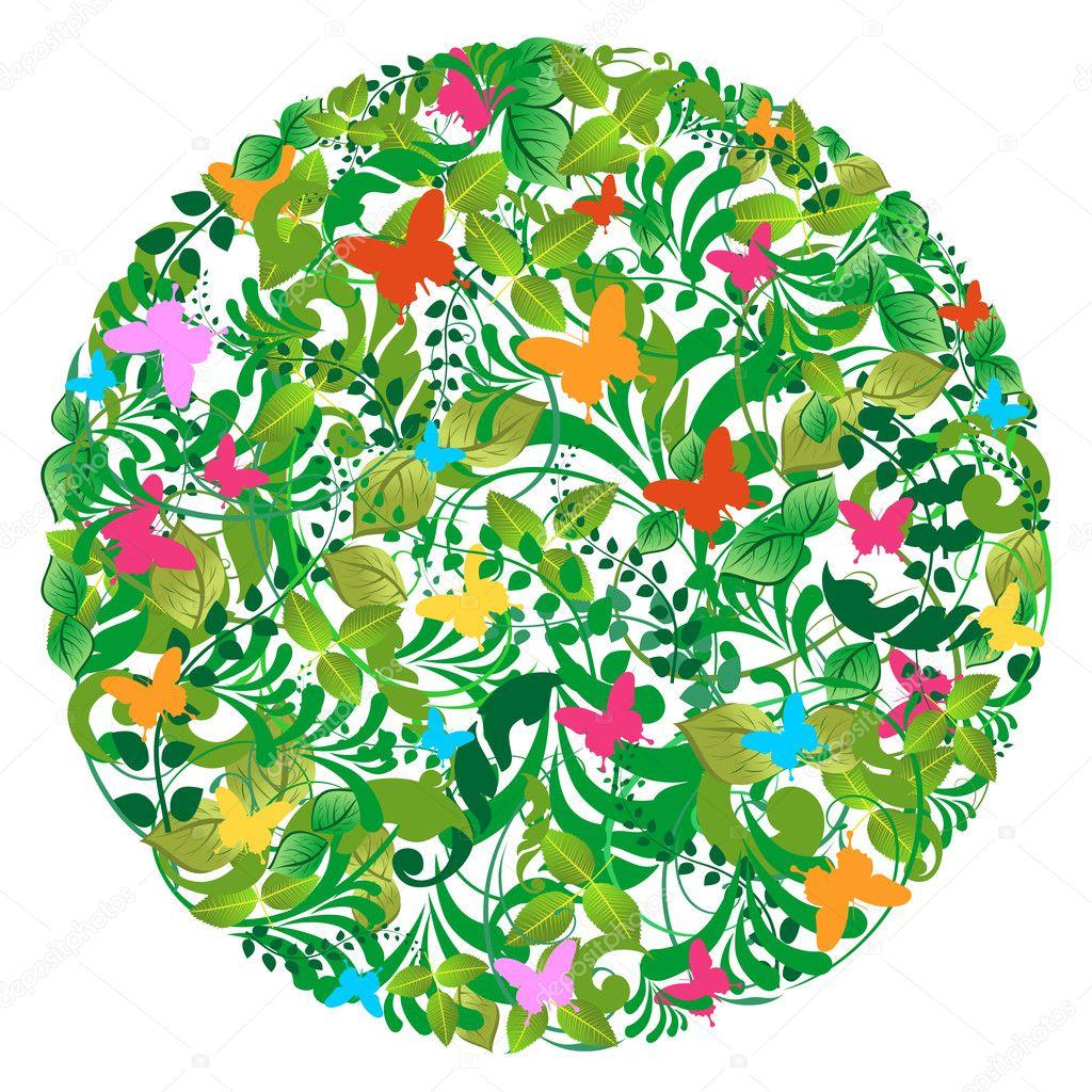 Bosque verde primavera y verano del patrón — Vector de stock ...