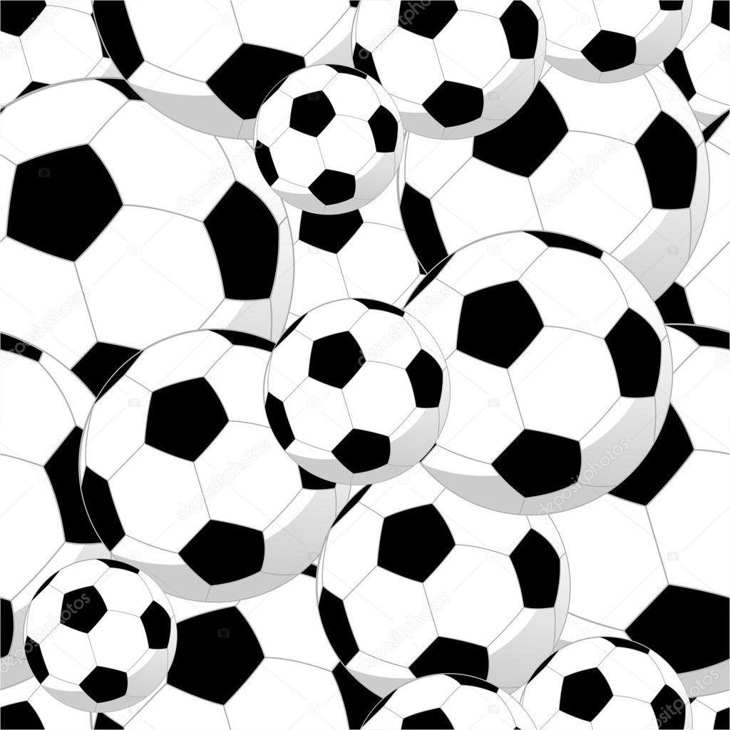 patrones sin fisuras de pelotas de fútbol — Vector de stock ...