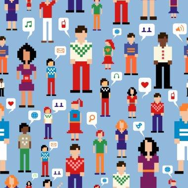 Social media network pattern