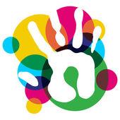 Vícebarevné rozmanitost ruka izolované