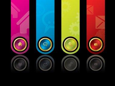 Colorful wesbite design template