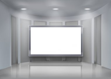 Projection screen.