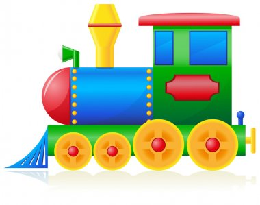 Children locomotive illustration isolated on white background stock vector