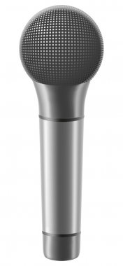 Microphone illustration isolated on white background stock vector