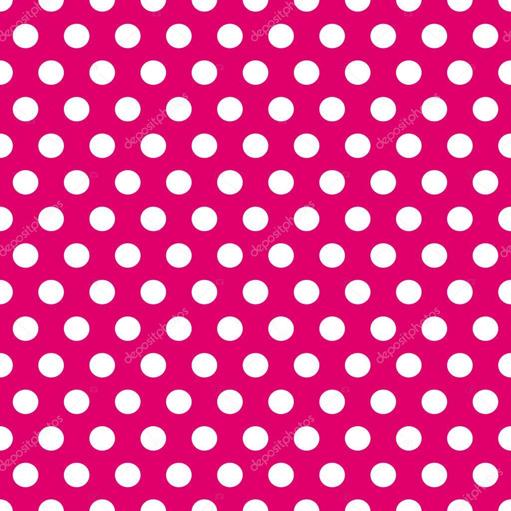 Modello Senza Saldatura Pois Rosa E Bianco Vettoriali Stock