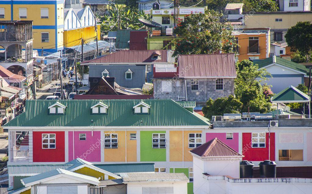 Фотообои Colrful зданий на Барбадос