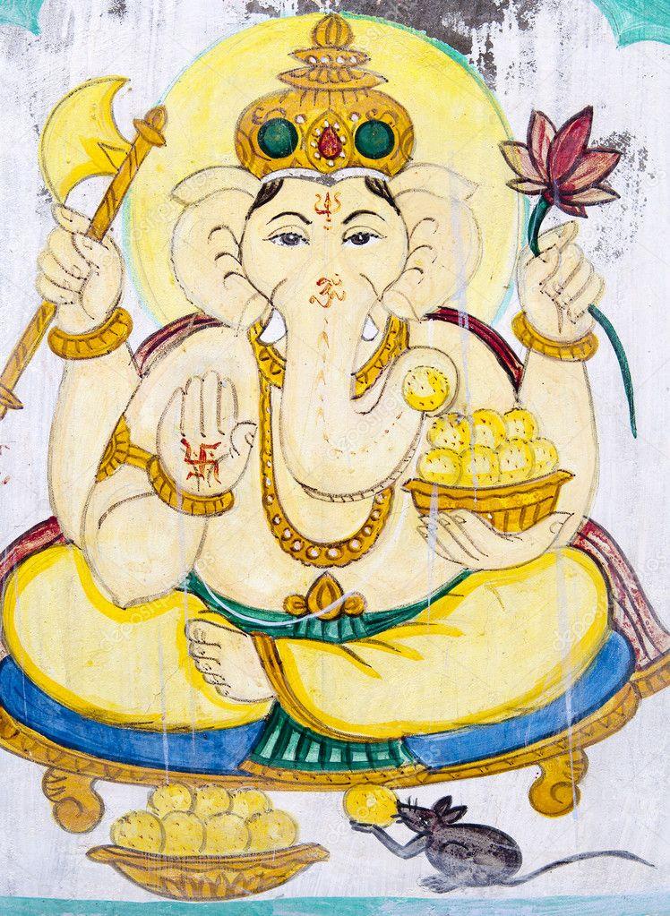 Imágenes Elefantes Hindues Coloridos Dios Cabeza De Elefante