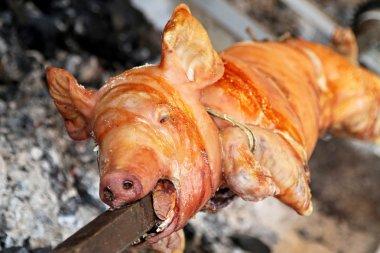 Pig on spit