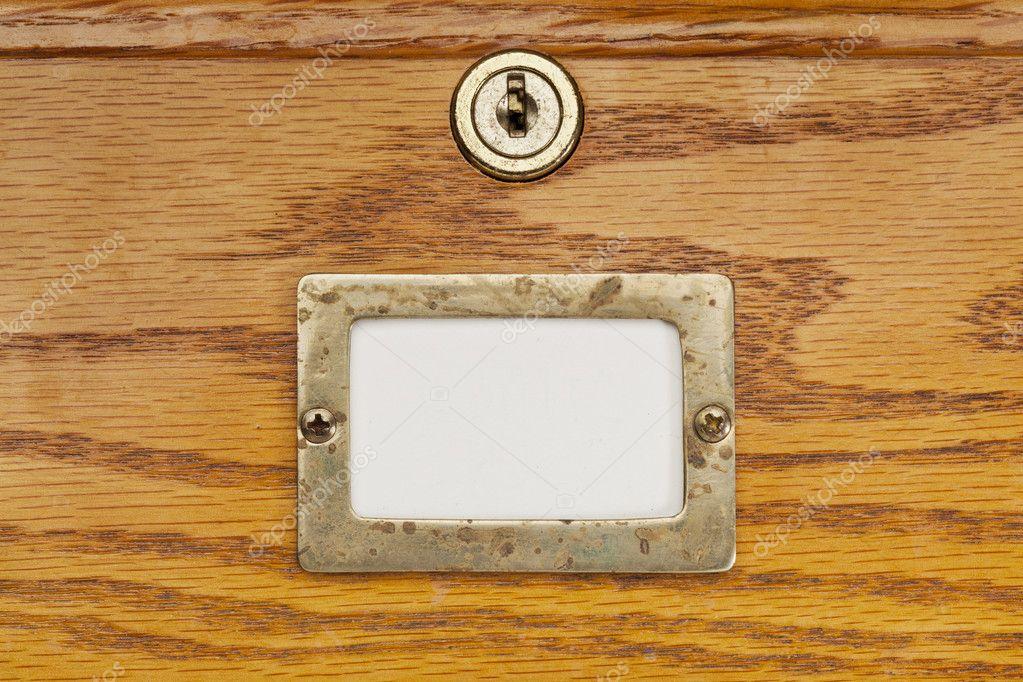 Lege label van de lade van archiefkast u stockfoto pixelsaway