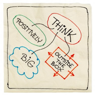 Think positively, big, creative