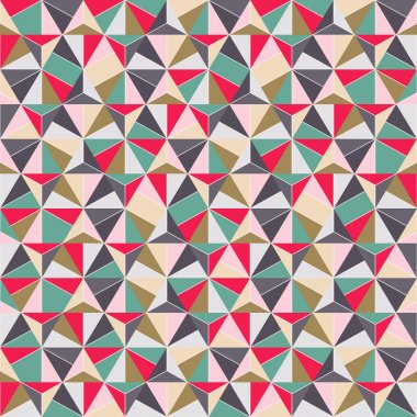 Geometric Triangle Shape Seamless Pattern