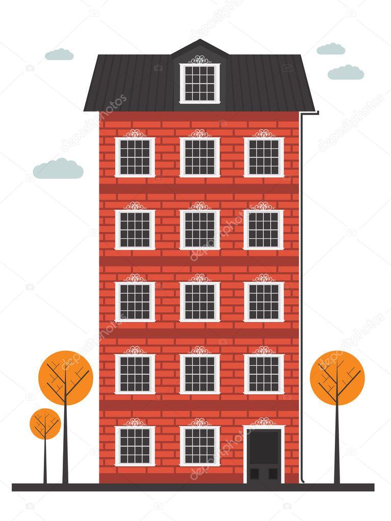 edificio de dibujos animados — Archivo Imágenes ...