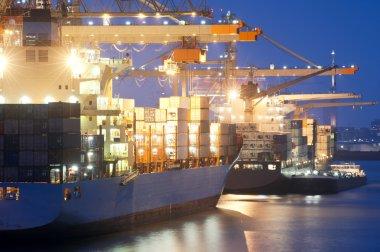 Nightly harbor activity