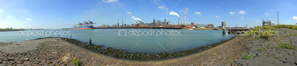 Pier and Steelworks Panorama