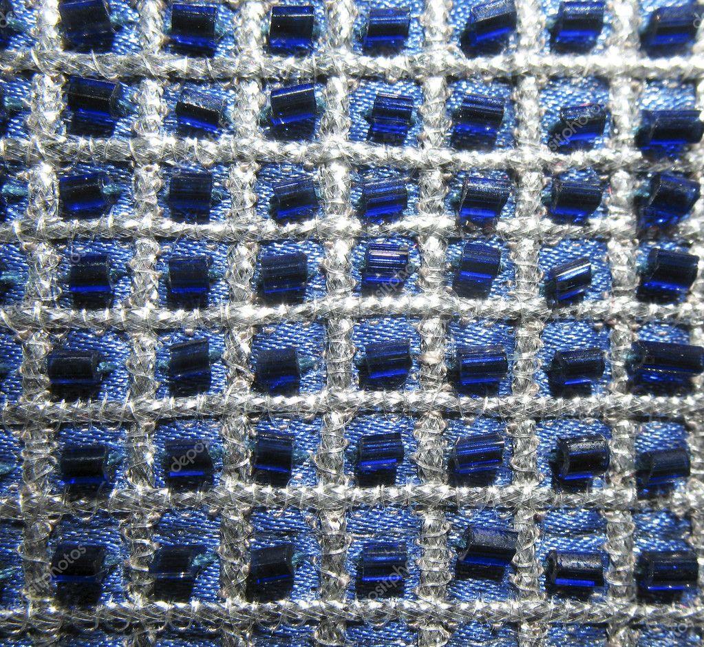 patrones geométricos bordados con perlas — Fotos de Stock © ZanozaRu ...