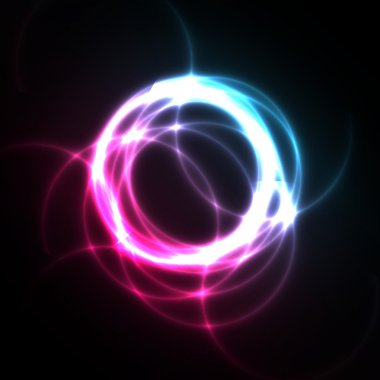 Abstract Background Vector - Bright Circles