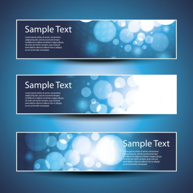 Three abstract header designs