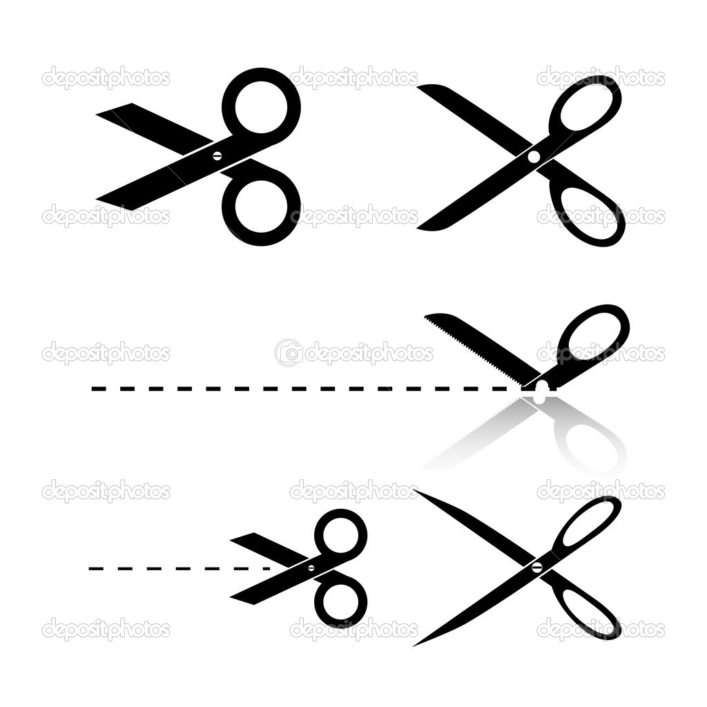 scissors template stock vector bagotaj 12271894