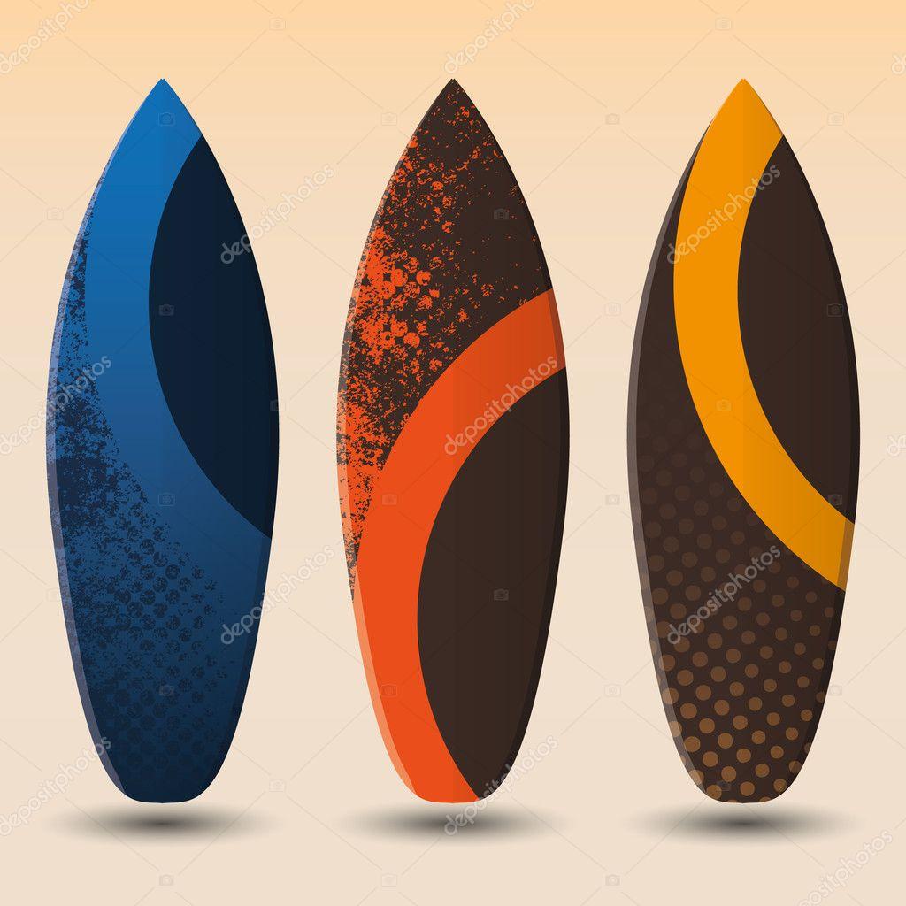 Disegni di tavole da surf vettoriali vettoriali stock bagotaj 12271960 - Tavole da surf decathlon ...