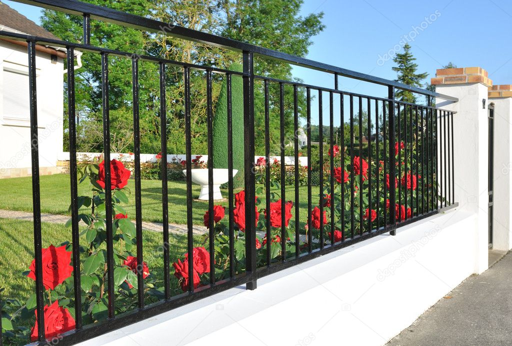 Picture of: Black Metal Fence Stock Photos Royalty Free Black Metal Fence Images Depositphotos